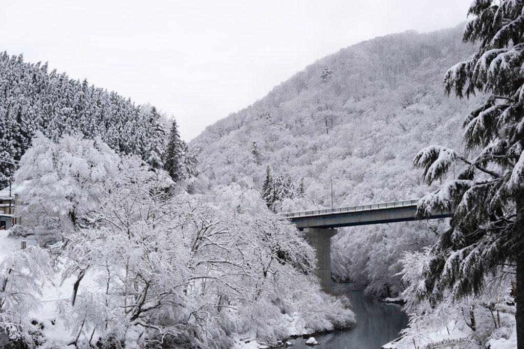 Snow at Shima Ohashi Bridge